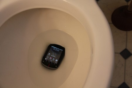 Commando in the toilet