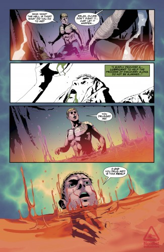 Green Arrow #21, pg. 4, by Jeff Lemire and Andrea Sorrentino