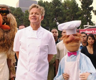 Gordon Ramsay and The Muppets' Swedish Chef Get in a FOOD FIGHT