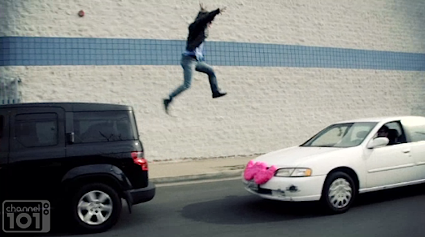 The Most Intentionally Funny Video of The Day 1/28/14: Channel 101's CAR JUMPER