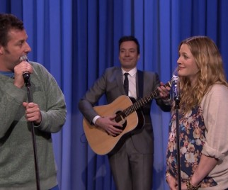 Drew Barrymore And Adam Sandler Sing A Lovely Duet On THE TONIGHT SHOW