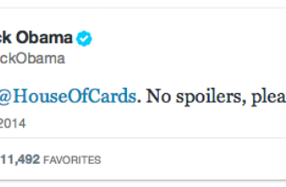 "Obama Requests ""No Spoilers"" for House of Cards Season 2"