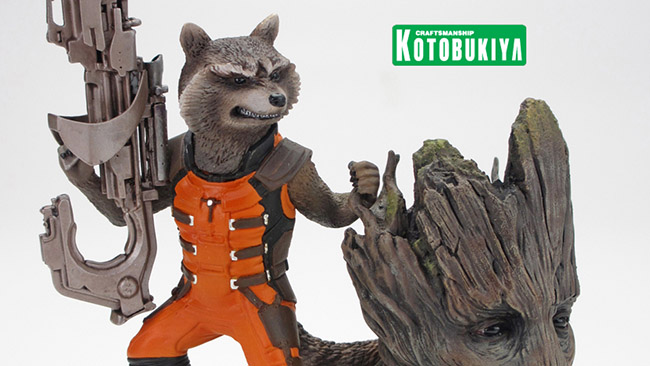 Capture Rocket Raccoon and Groot With This GUARDIANS OF THE GALAXY Statue