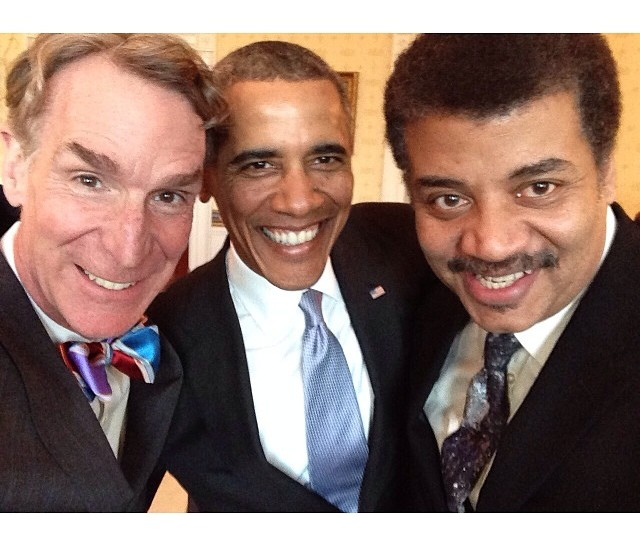 President Obama, Neil deGrasse Tyson, and Bill Nye Star In This Geeky Selfie