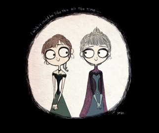 If Tim Burton Made FROZEN, It Would Totally Look Like This Amazing Fan Art