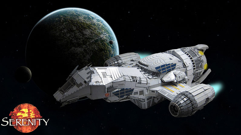 Watch a 7-Foot LEGO Serenity Come Together With the Magic of Time-Lapse