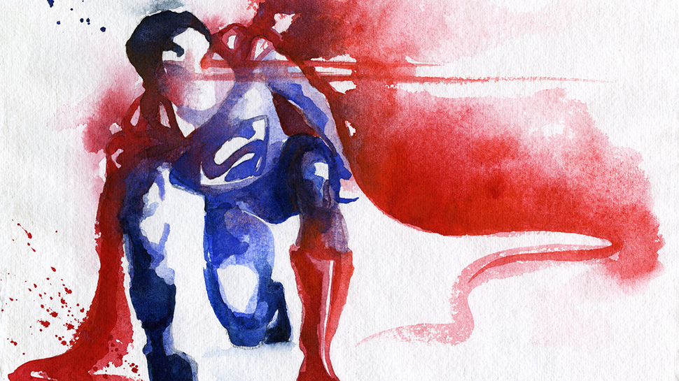 Superheroes Look Dreamy in Watercolors