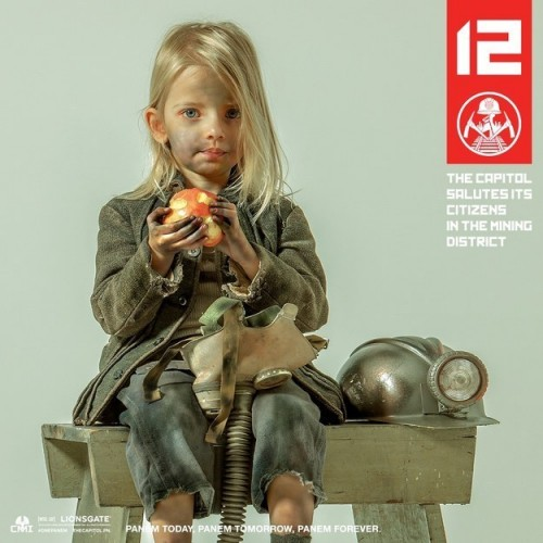 """The youngest in the group, District 12's Lily Elsington, 6, channels her hope and optimism toward Panem's peaceful future."""