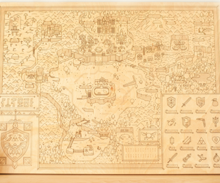 Navigate Through ZELDA's Hyrule with This Wooden Map