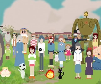 Tribute to Hayao Miyazaki Done in 8-Bit is Adorably Pixelated