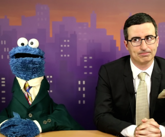 Cookie Monster & John Oliver Team Up for W-ORD News