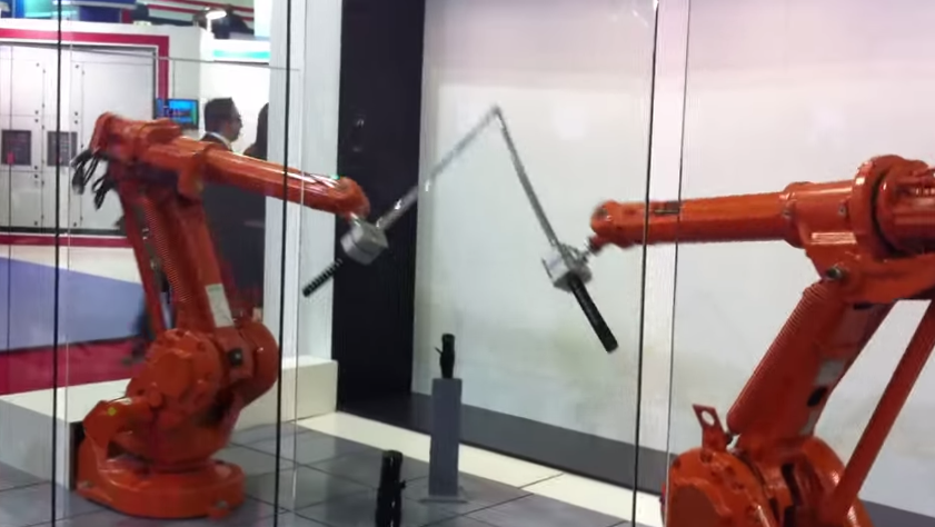 Watch This Mesmerizing Katana Fight Between Two Robots