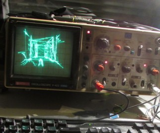 Playing the Ultimate QUAKE Demake on an Oscilloscope