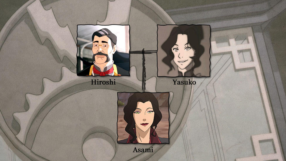 THE LEGEND OF KORRA Family Tree Fills Us With Tearful Memories