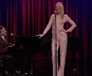 Jimmy Fallon, Gwyneth Paltrow Perform Broadway Versions of Rap Songs
