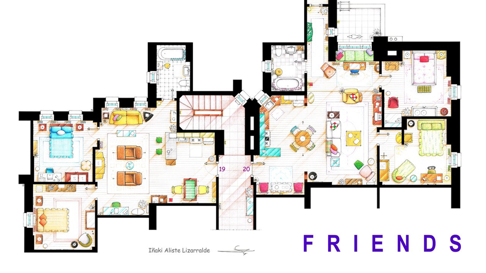 Apartments Floor Plans floor plans of your favorite tv apartments | nerdist