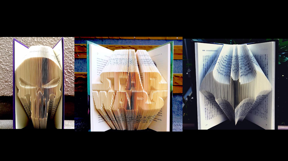 Books Folded Into Pop Culture Patterns
