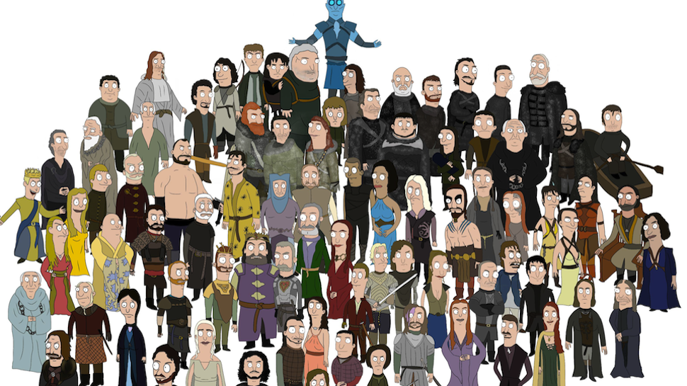 GAME OF THRONES Drawings Send the Cast to BOB'S BURGERS