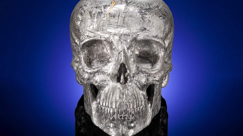 Skull Carved From 4-Billion-Year-Old Meteorite Set For Auction