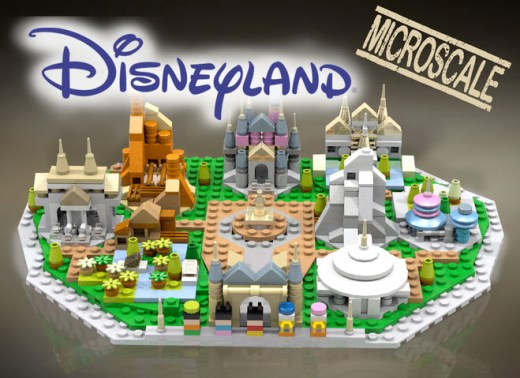 Front View of LEGO Micro Disneyland