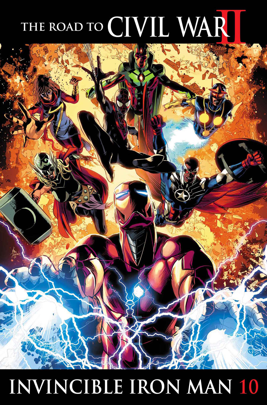 Civil War II Invincible Iron-Man 10 Cover Mike Deodato