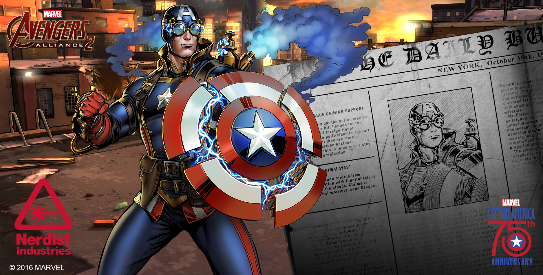 marvel celebrates captain america s 75th anniversary with new