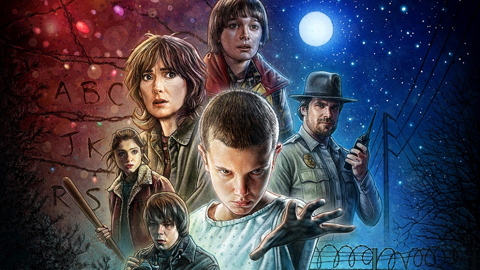 Check Out This Fan's Amazing STRANGER THINGS Poster