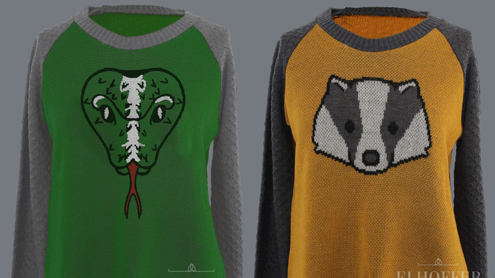 Accio Adorable HARRY POTTER Hogwarts House Sweaters