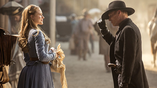 Westworld Ed Harris and Evan Rachel Wood