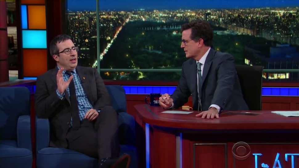 Stephen Colbert and John Oliver Will Team Up to Host Post-Election Benefit