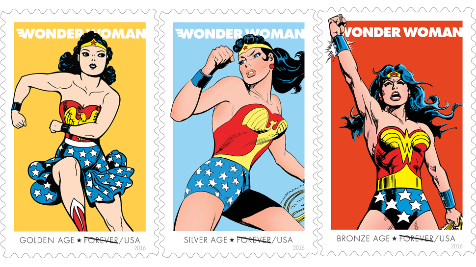 USPS Unveils WONDER WOMAN 75th Anniversary Forever Stamps