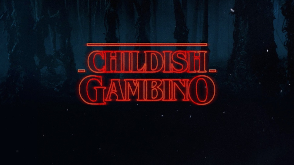 Childish Gambino Rapping over the STRANGER THINGS Theme is Incredible
