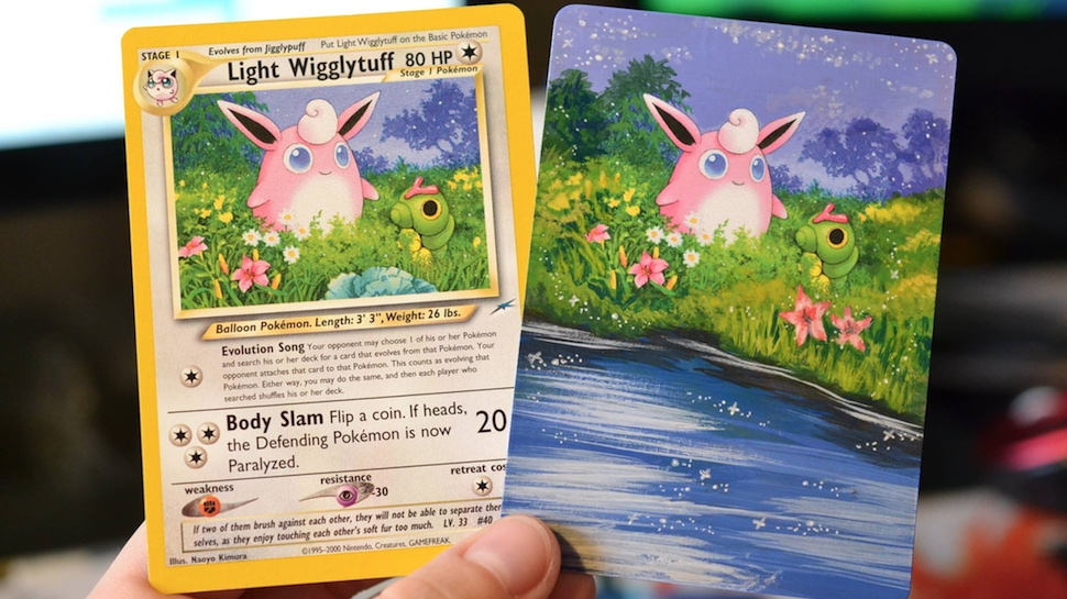 People are Painting Over POKÉMON Cards and They Look Amazing | Nerdist