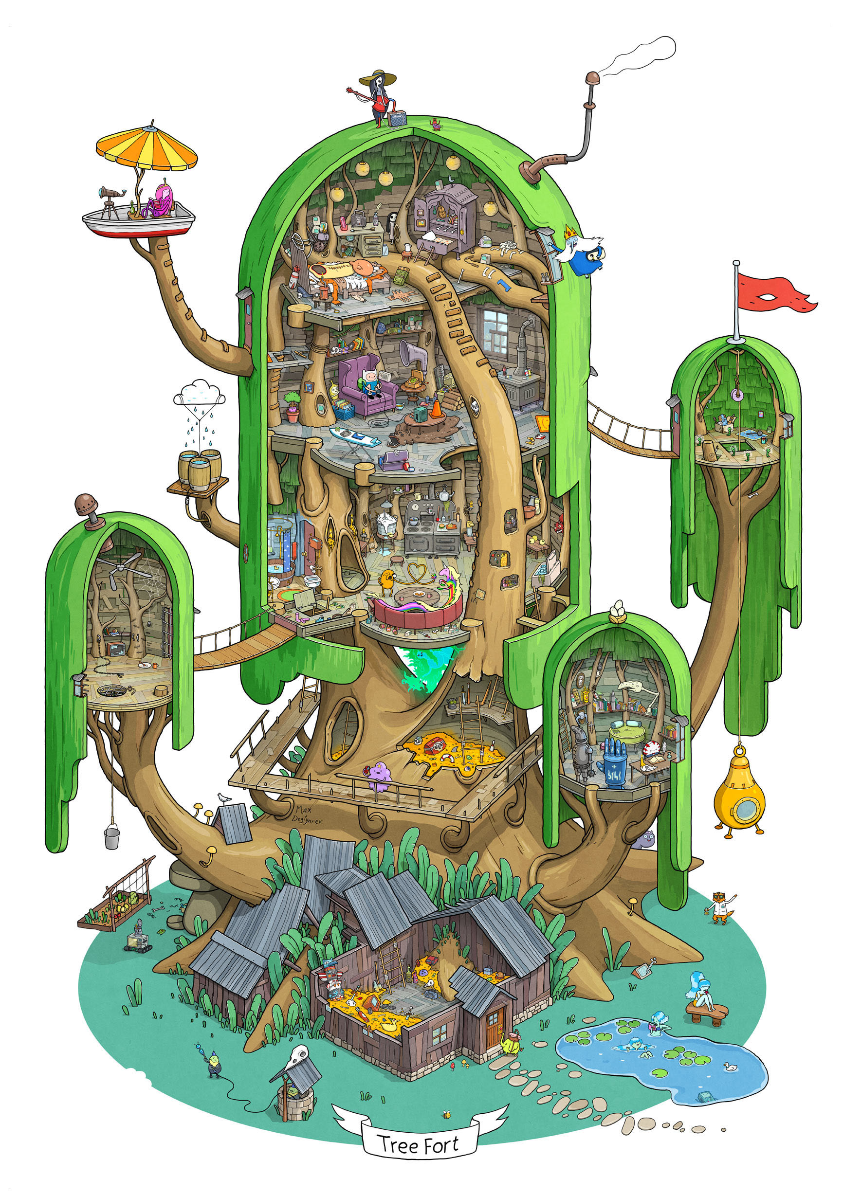 Adventure Time Finn and Jake's House full view