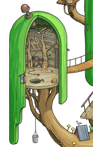 Adventure Time Finn and Jake's House prison cell