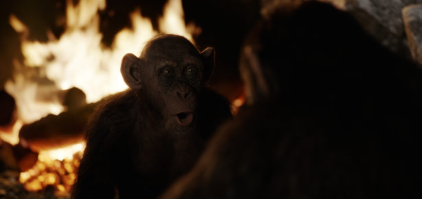 """Steve Zahn as Bad Ape in Twentieth Century Fox's """"War for the Planet of the Apes."""""""