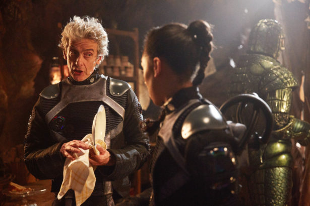 WARNING: Embargoed for publication until 00:00:01 on 06/06/2017 - Programme Name: Doctor Who S10 - TX: 10/06/2017 - Episode: Empress of Mars (No. 9) - Picture Shows: ***EMBARGOED UNTIL 00:01hrs 6th JUNE 2017*** The Doctor (PETER CAPALDI), Bill (PEARL MACKIE), Friday (RICHARD ASHTON) - (C) BBC/BBC Worldwide - Photographer: Simon Ridgway