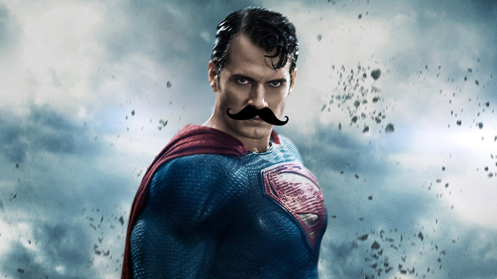 DC Will Digitally Erase SUPERMAN'S Mustache in JUSTICE LEAGUE