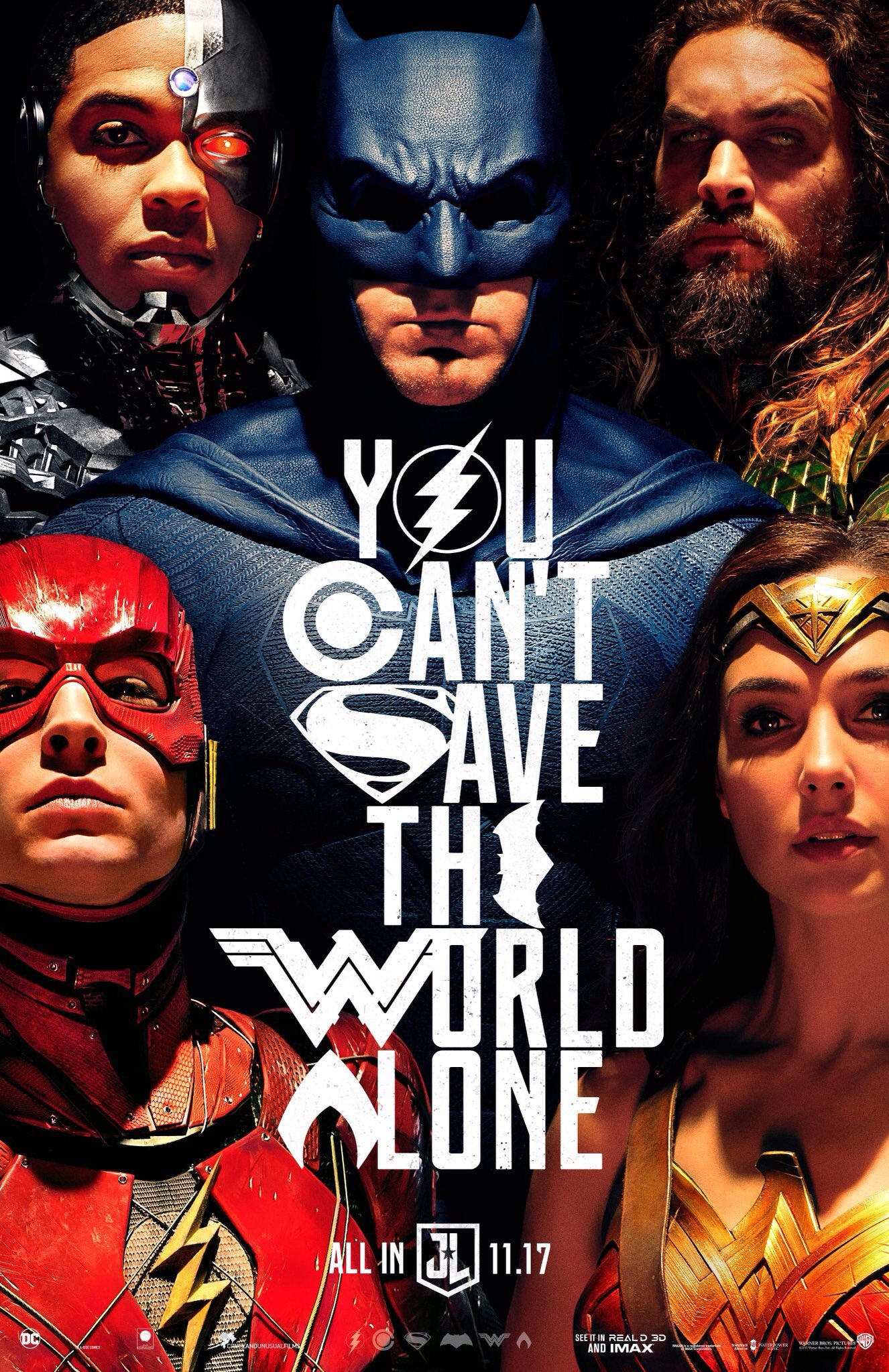 poll favorite justice league poster dc cinematic