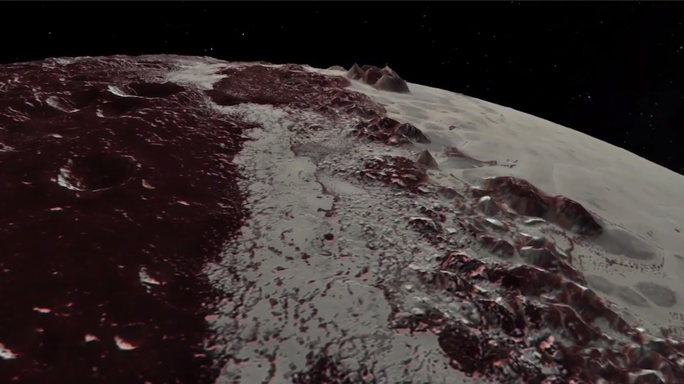 Flyover of Pluto Shows Beautiful Details of Our Favorite Former Planet