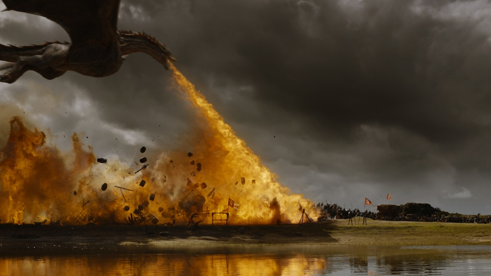 "GAME OF THRONES' Video Shows the Fiery Making of the ""Loot Train Attack"""