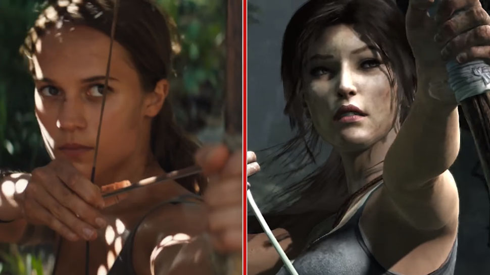 TOMB RAIDER Trailer and Video Game Get a Side-by-Side Comparison | Nerdist