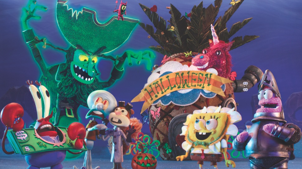 spongebob squarepants stop motion halloween special releases its first trailer