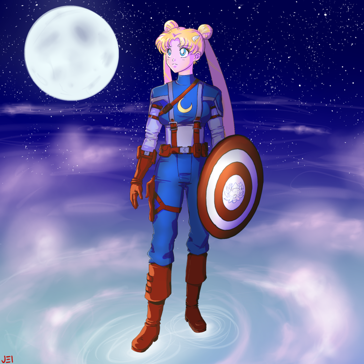 In The Name Of The Moon, Sailor Scouts Assemble! SAILOR MOON-AVENGERS Mash-Up