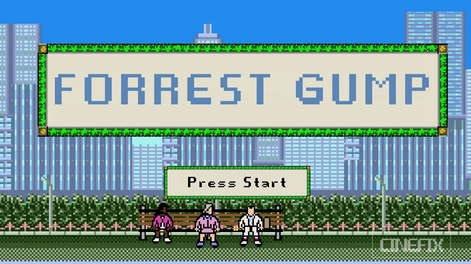 Life is Like an 8-Bit FORREST GUMP Video Game