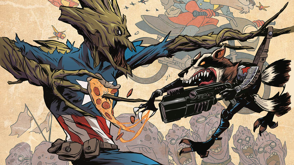 Captain Groot-merica? Marvel Announces 20 Rocket Raccoon and Groot Variant Covers