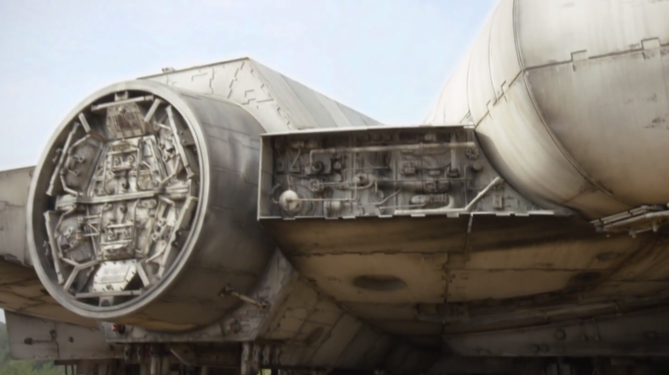 STAR WARS: EPISODE VII Reveals the Millennium Falcon and a Batty Stowaway
