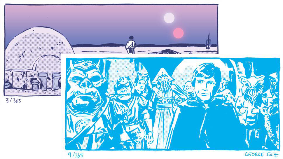 Artist Turns STAR WARS Scenes Into Comic Panels to Count Down to THE FORCE AWAKENS