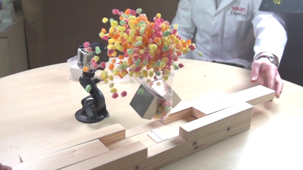 Watch Super-Strong Magnets Make an Apple Disappear
