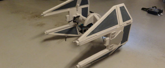 Don't Get Cocky Against This DIY TIE Fighter Drone